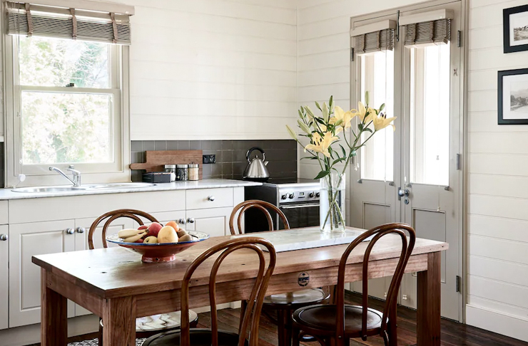 kitchen of charming cottage