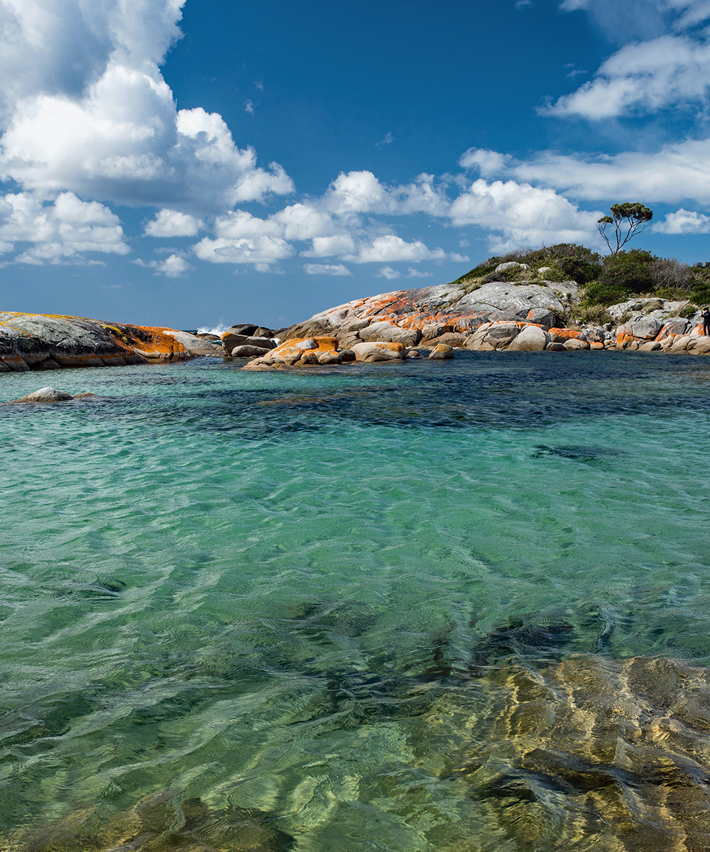 the stunning crystal clear waters of the binalong bay