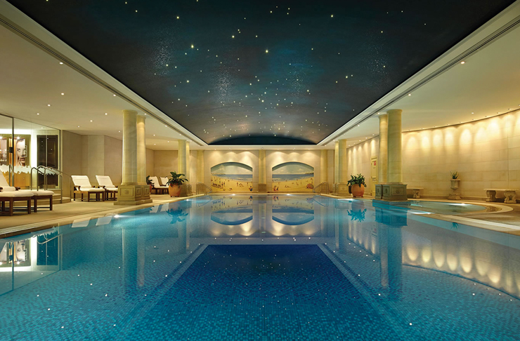 indoor hotel with star lights
