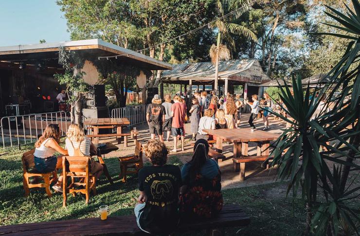beer garden out the back of billinudgel pub