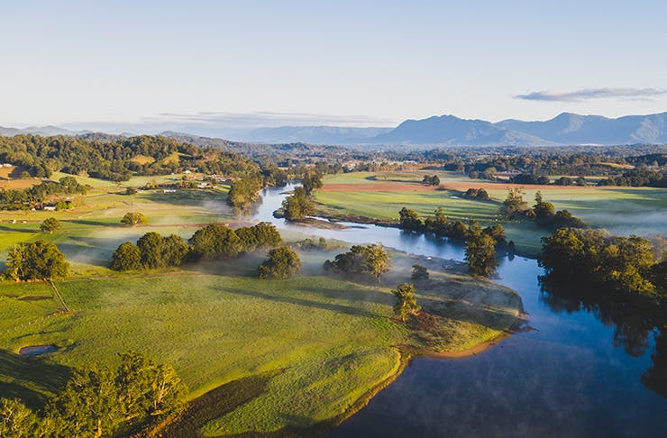 aerial of bellingen river
