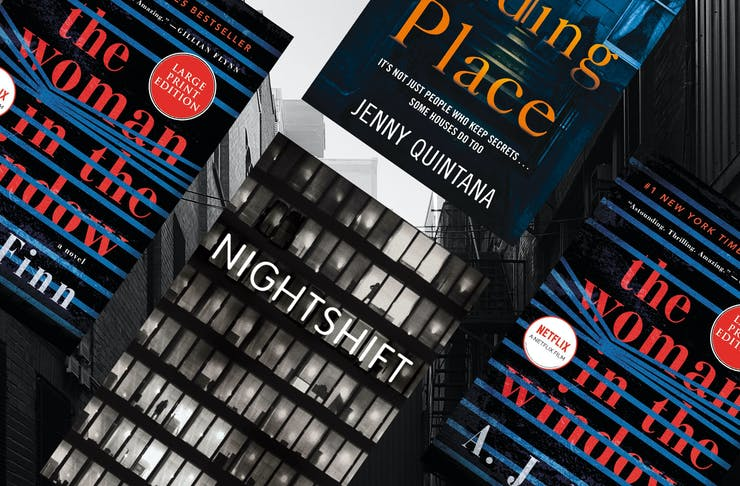 collage of the best thriller books