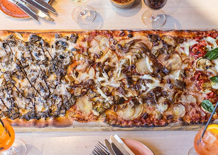 Here's Where You Can Sink Your Teeth Into A Metre-Long Vegan Pizza